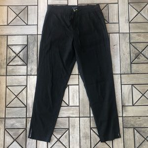 Theory Zip Ankle Black Pants Size M